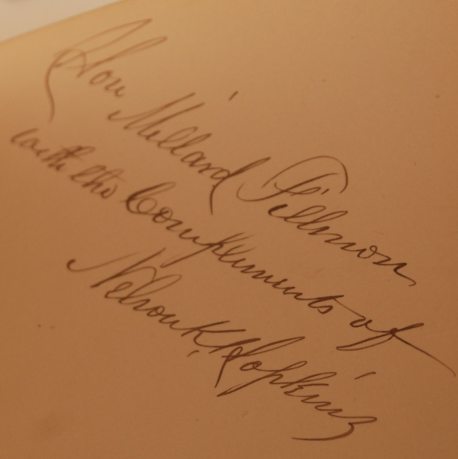 Millard Fillmor... Millard Fillmore Signature