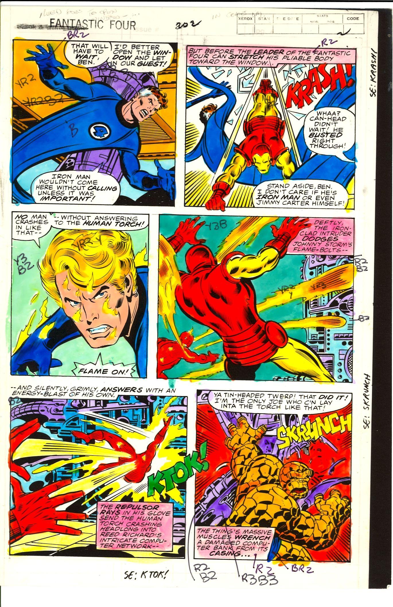 Iron Man Comic Original Art Original Iron Man
