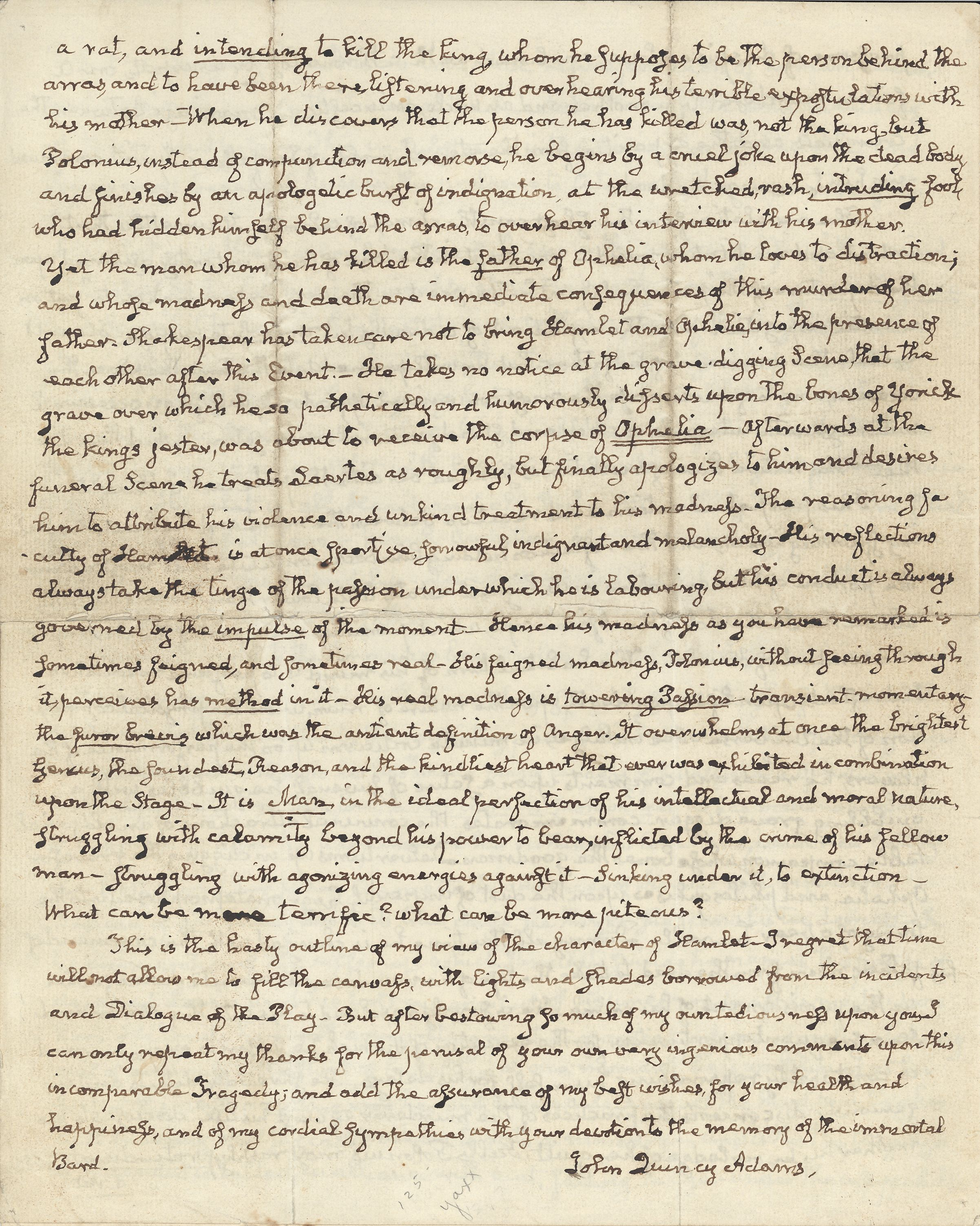 a letter to hamlet Hamlet relays to horatio that two days on his voyage to england with rosencrantz and guildenstern, they were overtook by pirates.