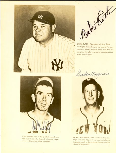 Babe Ruth Signed photo