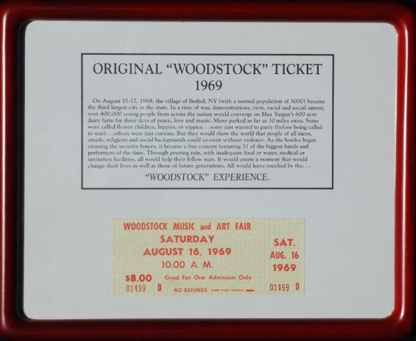 Unused Woodstock Ticket