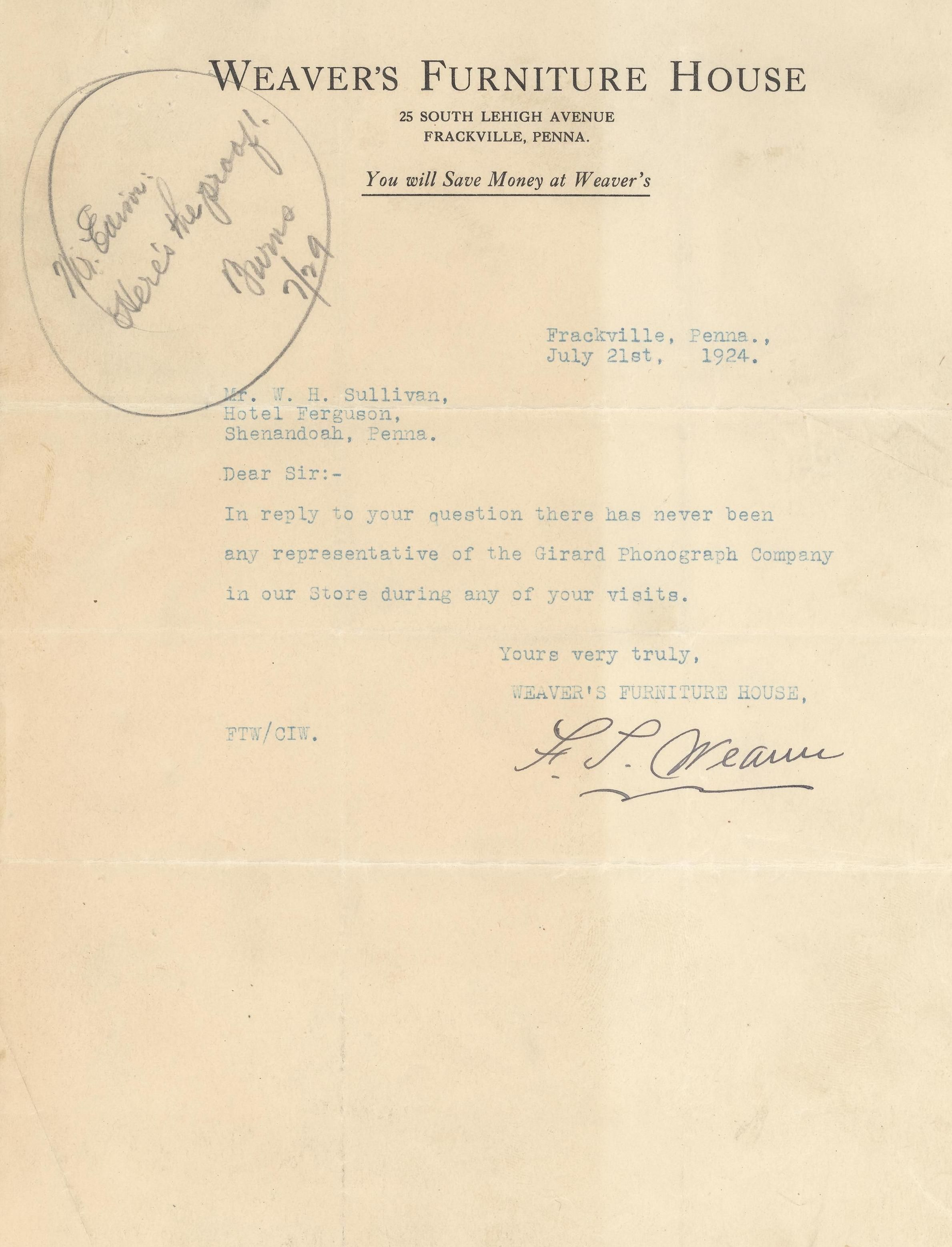 thomas edison letter lot detail edison collection of 6 signed letters 25267 | 2218i lg