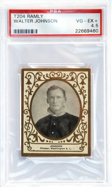 1909 T204 Ramly Walter Johnson PSA VG-EX 4.5 (The Only One)