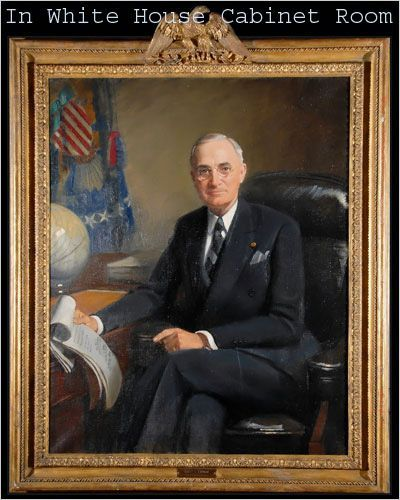 Lot Detail - Important Original Truman Portrait, Obama Selected
