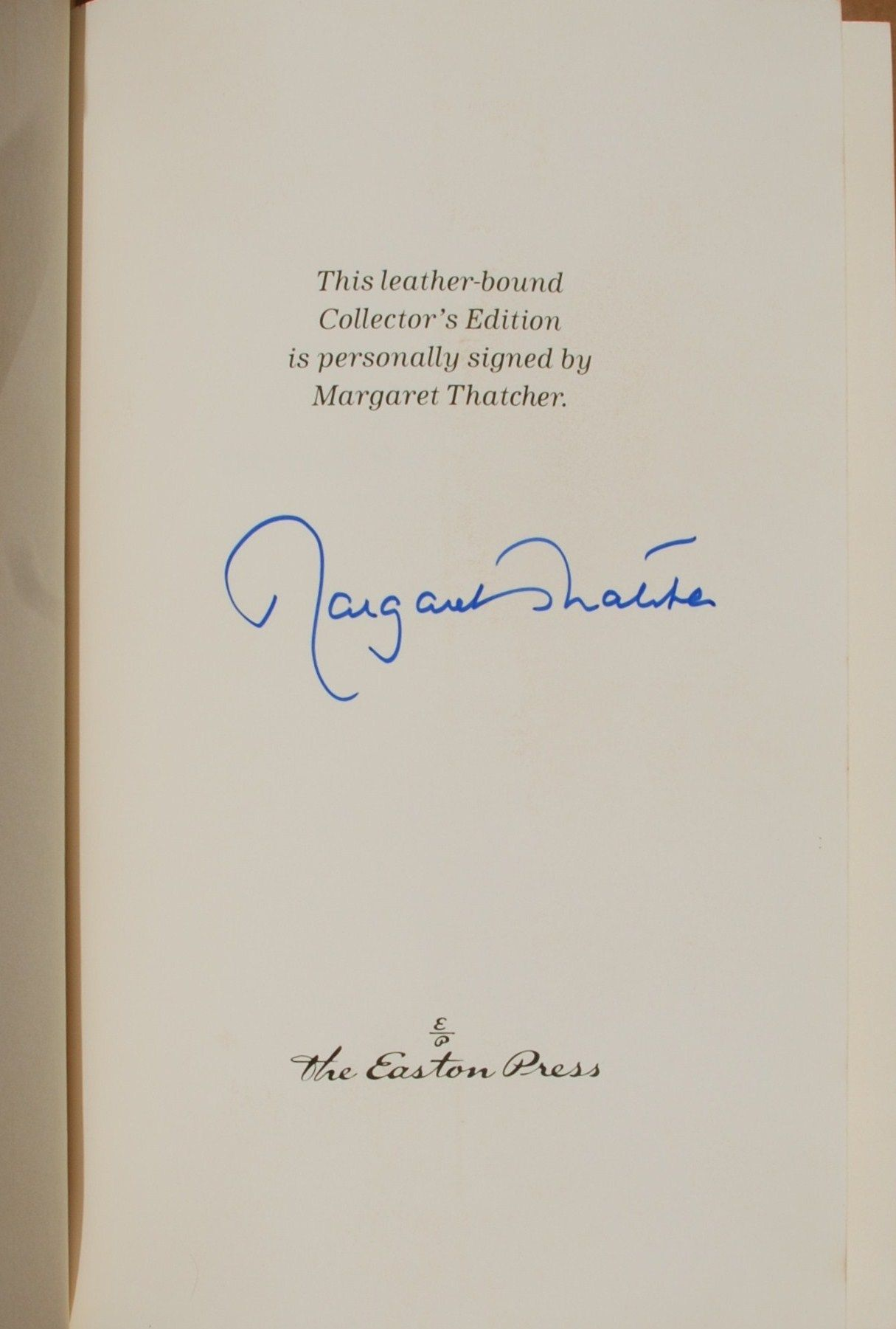 EASTON PRESS THE PATH TO POWER SIGNED MARGARET THATCHER 1ST EDITION #159/300 NR!
