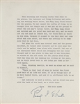 "Pearl S. Buck Original Signed Quotation from her Pulitzer Prize Book "" The Good Earth"""