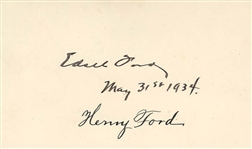 Henry Ford Family Autographs