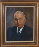 "Oil Painting of ""Harry Truman"" by Lawrence Williams"