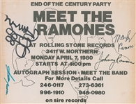 Meet the Ramones Signed Flyer