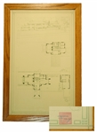 Incredible Frank Lloyd Wright Signed Blueprint Lithograph Plans