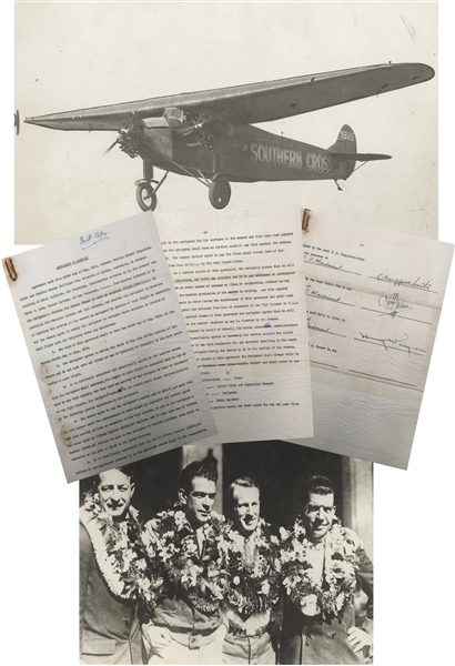 Important Aviation Archive The First Trans-Pacific Flight