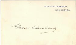 Grover Cleveland Executive Mansion Card