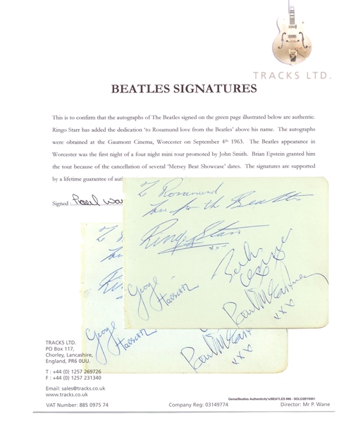 Beatles Signed Album Page