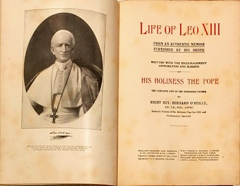 Rare Pope Leo XIII Signed Photo to Mark Twain's Publishing business manager For their book on his Life