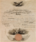 Abraham Lincoln Uncommon Naval Appointment Signed As President