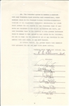 Orson Welles Signed Contract