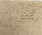 1782  Connecticut Revolutionary War Signed Promissory Note