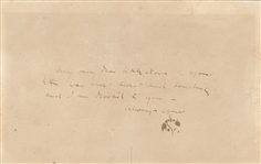 James Abbott McNeill Whistler- Signed ALS with Butterfly Signature