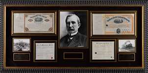 Collection of signed John D. Rockefeller Stock for Oil & Railroad