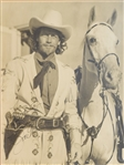 Joel Mccrea Oversized signed photo as Buffalo Bill