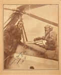"Amelia Earhart & James G. Ray signed 5""x 5.5"" paper photograph prior to the Gyroplane Altitude record flight"