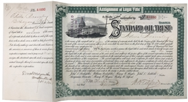 Henry M. Flagler- Standard Oil Stock