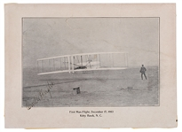 Orville Wright First Flight Signed Photo
