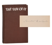 "Signed Amelia Earhart book ""The Fun of It"""
