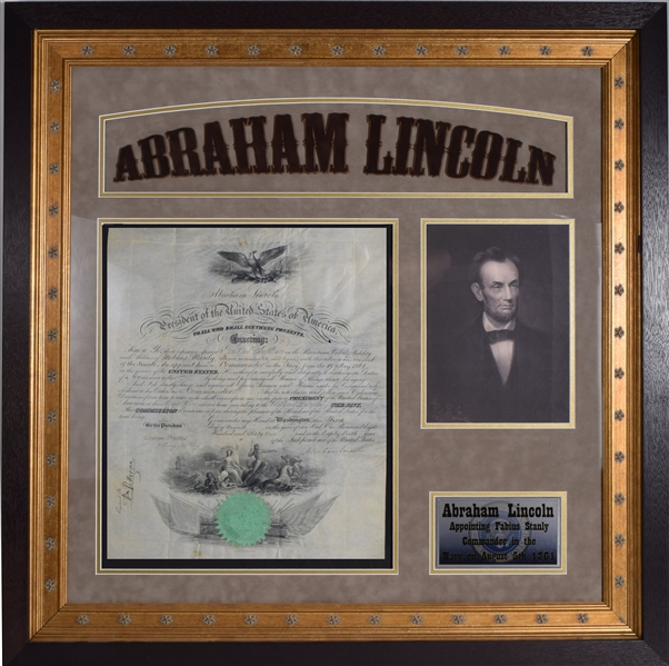 Abraham Lincoln Naval Commission For Important Commander