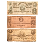 Three Better Confederate Currency Notes