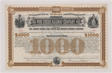 Group of 4 U. S. Railroad Stock Certificates