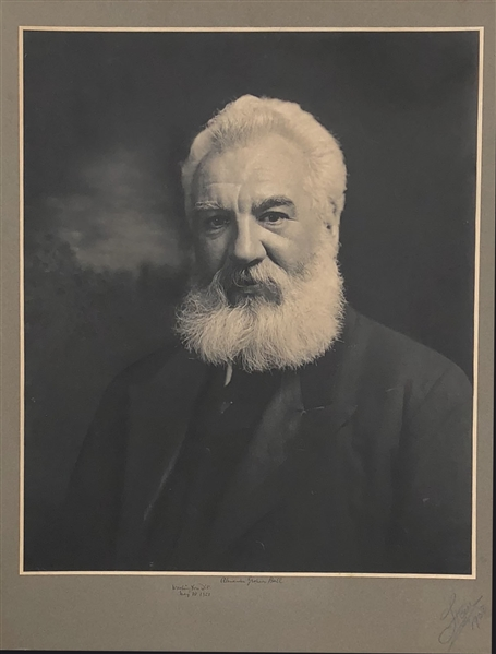 One Of A Kind  32x24 Signed Image of Alexander Graham Bell