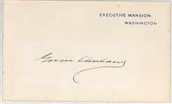 Grover Cleveland Signed Executive Mansion card