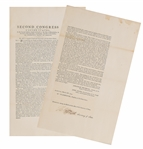 Act Of The Second Congress Relating To Trade with Indians Issued by George Washington Signed By Thomas Jefferson