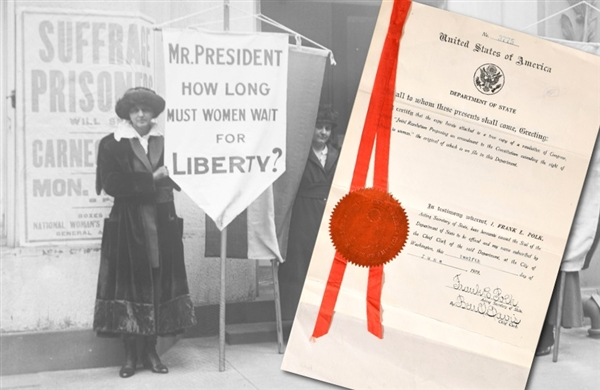 Original 19th Amendment Proposing an amendment to the Constitution extending the right of suffrage to women.