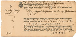 John Hancock - Scarce Hand Annotated 1762 Autographed Document