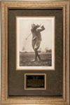 Harry Vardon signed  Oversize Photo