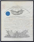 Abraham Lincoln  Military Commission Document Signed as President