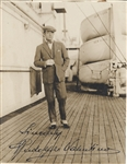 Rudolph Valentino Signed photo