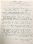 "Woody Guthrie ""Biggest Thing That Man Has Ever Done""  original autograph lyrics"