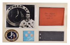 Apollo 14 Original Re-Entry Parachute signed by Alan Shepard