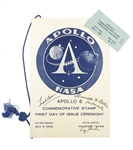 Apollo 8 Commemorative Stamp Ceremony signed By George H. W. Bush, Astronaut Frank Bowman
