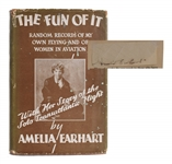 "Amelia Earhart Signature in Book ""The Fun of It"""