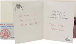 Neil Armstrong Signed Christmas Card