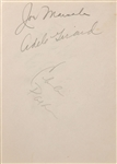 "Charlie Parker ""The Bird "" 1943 signature on album page)"