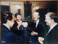 Reagan, Ford, Carter  Signed Presidents Photo