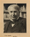Thomas Edison  Stunning Signed Portrait