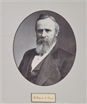 Rutherford B. Hayes ,Crisp ink signature,