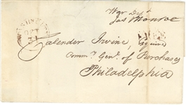 James Monroe Free Frank envelope
