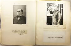 Autograph album with over 250 autographs: Theodore Roosevelt, William McKinley, Mark Twain,John A. Dix and much More!